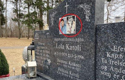 VANDALISERT: Ekteparet Lola og Polykarp Karoli er gravlagt på Vestre Gravlund. Nylig ble det oppdaget at bildet av dem på gravstøtten hadde blitt knust.