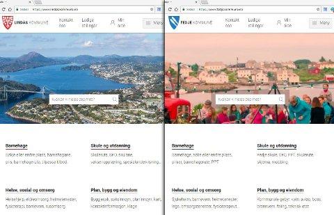 Lindås og Fedje er først ut i Nordhordland med nye nettsider.