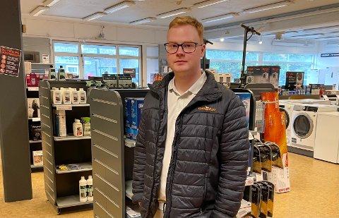 Nye steg: Markus Fredriksen (23) gleder seg til å fornye butikken, og om kun kort tid er det klart for nyåpning.