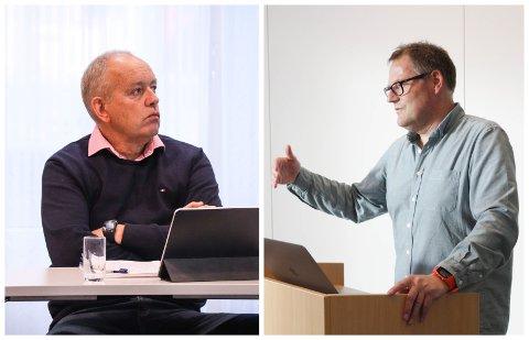 UENIGHET I STYRET: John Mong (KrF) synes ikke noe om at dokumenter knyttet tildeling av kompensjonsmidler unntas fra offentligheten. Frank Emil Moen, som fungerte som styreleder i Eigersund næring og havn da saken ble behandlet, er enig i at det kan føre til spekulasjoner.