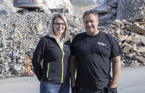 KR LARSEN: Hanne Bergene Larsen (t.v.) og Kai Roger Larsen driver KR Larsen AS.