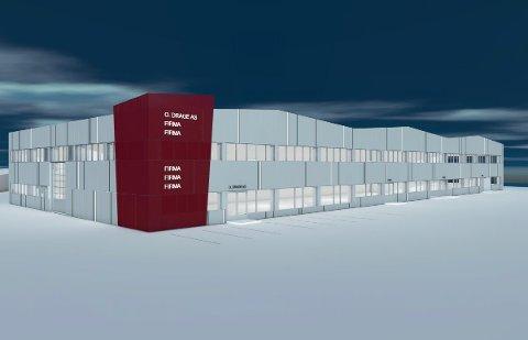 NYTT: O Drage skal renovere Dragehallen på Kronborg. Slik ser dei føre seg den nye fasaden på kveldstsid. Det er Xform som står for teikningar og modellar.