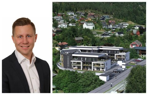 LOSNA: Sju kjøparar har no signert kjøpskontrakter på leilegheiter i Smestad-blokkene, fortel eigendomsmeklar Raymond Sandøy.