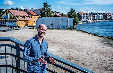 Her på Trosvikstranda vil Cityplan og Sander Grundvig bruke store penger på byutvikling.