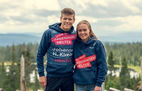 Skitalentet Linn Ravndal fra Ålgård fikk treningsråd fra skiesset Johannes Høsflot Klæbo.