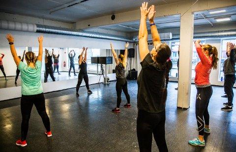 Åpning av nytt grupperom i treningsstudioet Gym Pluss i Lillehammer sentrum.