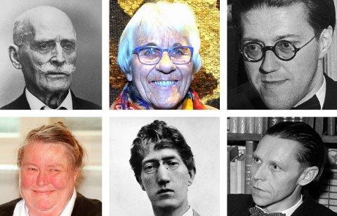 Hus: Knut Hamsun, Lisbet Lid Venås, Tor Jonsson, Vera Henriksen, Olav Aukrust og Jan-Magnus Bruheim. Kva skjer med planane om diktarhus?
