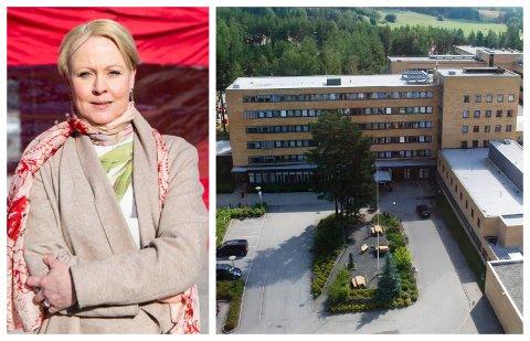 TO INNLAGT: To Jevnaker-kvinner med covid-19 er nå lagt inn på Ringerike sykehus. Kommuneoverlege Marthe Bergli håper strenge tiltak skal virke imot virusspredningen på Jevnaker.