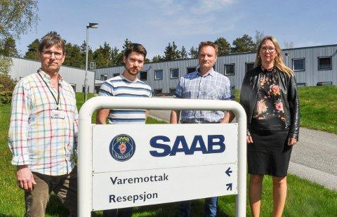 SJOKK: - De ansatte var totalt uforberedet på kuttene, og omfanget var et sjokk, sier de tillitsvalgte Fra venstre Dag Martin Vik-Haugen (NITO), Jon Øivind Vold (TEKNA), Ronny Svendsen (leder,TEKNA) og Vibeke Røstengen (leder NITO).