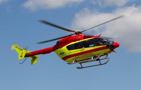 LØRENSKOG  20100709. Helikopter fra Norsk Luftambulanse  ( LN-OOM) i luften etter take off fra basen på Lørenskog. Foto: Morten Holm / Scanpix