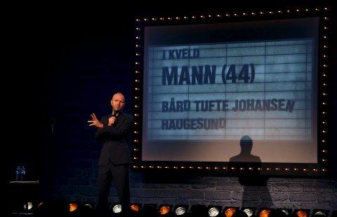 TILBAKE I HAUGESUND: Bård Tufte Johansen solgte rundt 4.000 billetter da han tok showet «Mann (44)» til Haugesund julen 2014. Nå er komikeren igjen klar for Maritim Hall.