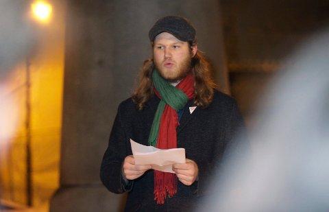APPELL: Reidar Sand, leder Sosialistisk ungdom.