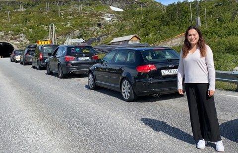 PÅ TUR: Tone Vuong Vinningland var på vei fra Oslo til Haugesund søndag formiddag.