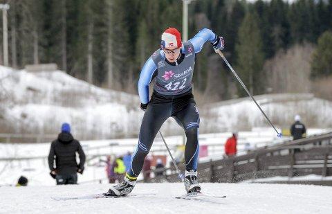 TOPPLØP: Jesper Abelsen Andreassen presterte karrierebeste i sin siste individuelle NM-start. Foto: Arne Brunes