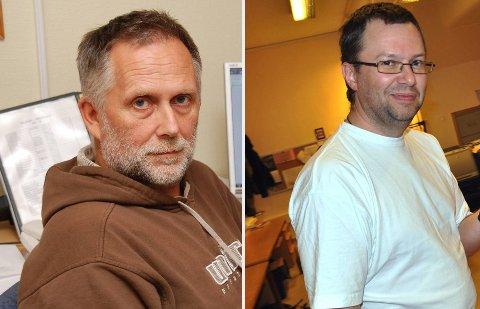 VIL BLI RÅDMANN: Bernt Sandtrøen (y.v.) og Bengt Ole Ekrem vil begge bli rådmann i Gamvik kommune.