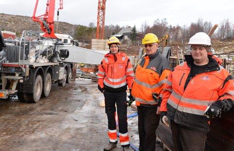 ARNESEN BETONG: Her ser du Peter Johannes Arnesen, Alf Arnesen og Pål Vidar Arnesen i aksjon i 2017.