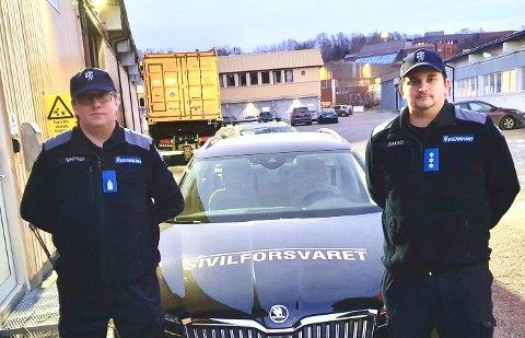 KARANTENEHOTELL: Stian Simonsen og Ronny Isaksen reiste onsdag til Narvik for å fungere som ordensvakter på byens karantenehotell.