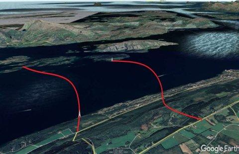 ALTERNATIVER: Man ser på to ulike alternativer for undersjøisk tunnel fra Herøy/Dønna og over til Alstahaug.