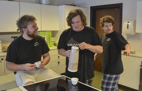Stab: Sverre Brubakken (til venstre), Even A. Schulze Jørgensen og Hans Anders Lindheim Møller.