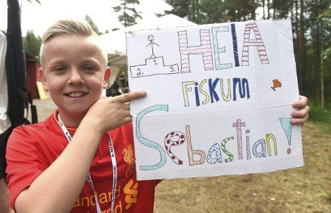 FORNØYD: 12 år gamle Sebastian E. Johnsen var fornøyd etter rekruttfinalen og 21. plass.