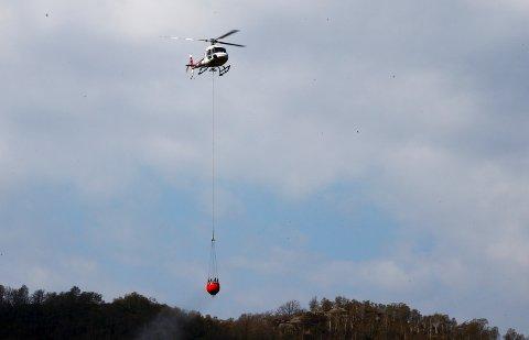 DBS setter denne helgen inn seks ekstra helikoptre mot skogbrann. Foto: Terje Pedersen / NTB scanpix