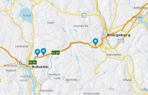 Mens vi kan kjøre på den splitter nye europaveien gjennom Kongsberg, så begynner planleggingen av veien videre over Meheia.