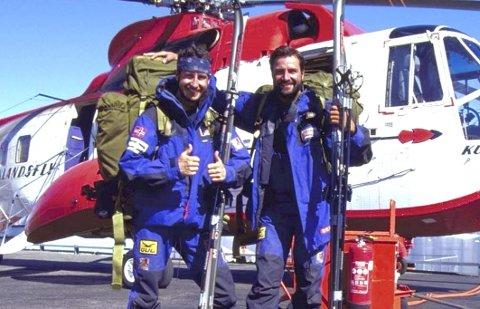 Eventyrer: Nicolai Nansen (t.h.) på en av ekspedisjonene over Grønland. Her sammen med Harald Rønneberg. Foto: Privat