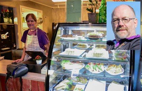 Stamgjest Jakob Eitrheim syntes det var godt å komme tilbake til Siv Heimdals kafé på Ballstad.