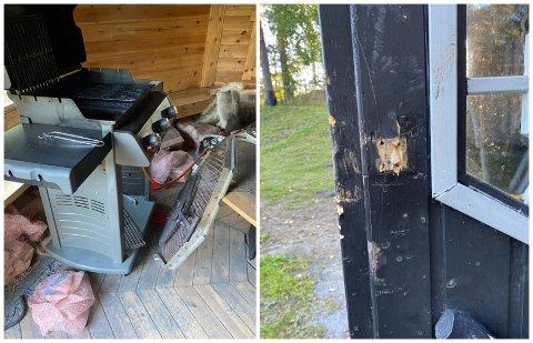 BRUTT OPP: To oppholdsplasser var blitt brutt opp, samt at en grill var blitt ødelagt.