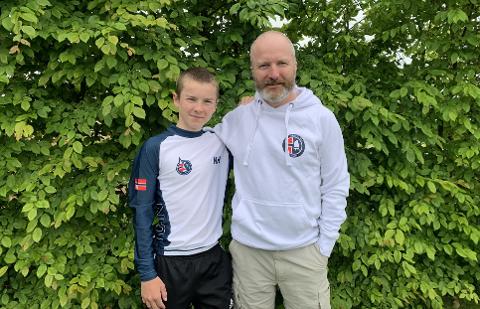 OPPLEVELSE I VENTE: Storm Kopperud (14) reiser denne uken til Italia sammen med pappa Lars Jørgen Kopperud og resten av familien.
