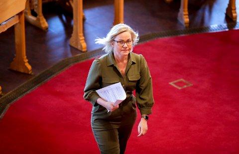 Oslo 20200526.  Ingvild Kjerkol (Ap) i Stortinget under debatten om den nye bioteknologiloven. Foto: Vidar Ruud / NTB