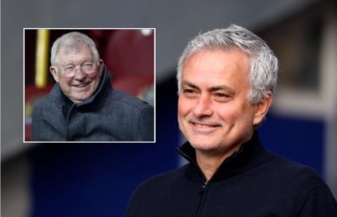 FÅR ROS: Sir Alex Ferguson ønsker Jose Mourinho hjertelig velkommen til klubben når portugiseren på søndag leder sin 1000. kamp som manager.