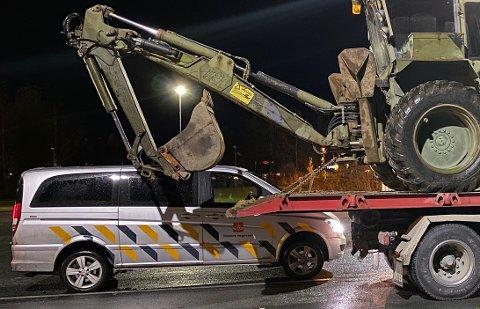 Statens vegvesen tok et bilde for å simulere hva som kunne ha skjedd ved en påkjørsel bakfra.