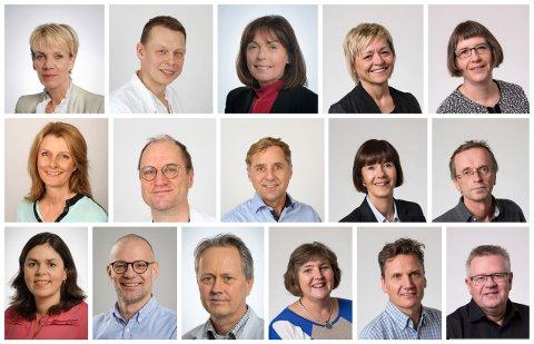 Dette er noen av de som utgjør ledelsen ved St. Olavs Hospital.
