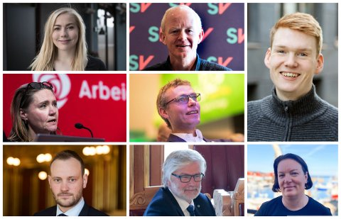 KAN BLI VALGT: Alle disse kandidatene fra Trondheim kan komme inn på Stortinget etter valget.