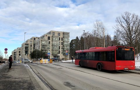79-bussen vil heretter stoppe i Lambertseterveien øst for rundkjøringen, ikke i Langbølgen.
