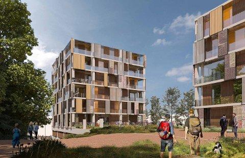 Dette boligprosjektet i Bølerlia 73b står på sakskartet når Østensjø bydelsutvalg møtes mandag 12. april. Illustrasjon: A-lab