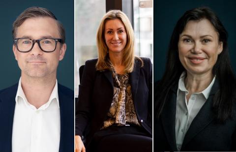 (f.v): Tom André Aas, Hedda Ulvness og Ellen Maxine Onsum deler sine tanker og teorier om eiendomsmarkedet i Oslo etter påske.