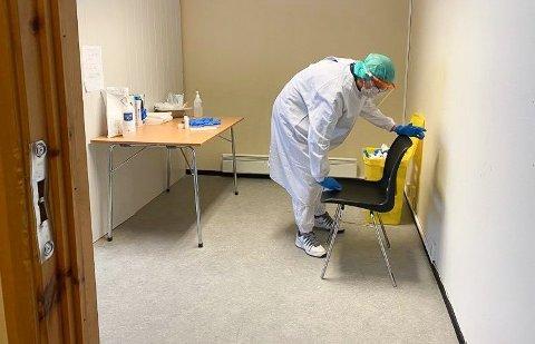 TESTING: Utbruddet i Hammerfest har passert over 150 smittede.