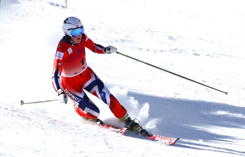 Mathilde Ilebrekke endte på verdenscuppallen etter en god finaleomgang under fredagens sprint i telemark. Foto: Petter Ekran / Skiforbundet / NTB scanpix