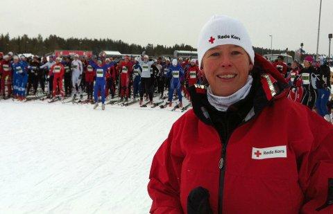 Fornøyd: Hanne-Gunn Røraas, daglig leder i Oppland Røde Kors.