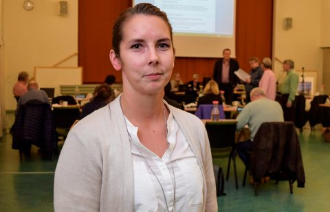 Linn Therese Myhrvold, leder og hovedtillitsvalgt i Utdanningsforbundet Østre Toten.