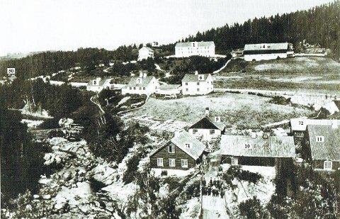 Husgruppe 1: Brufoss og Brusveen 1870.ALLE FOTO: MJØSMUSEET