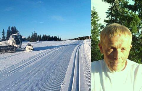 REAGERER: Ole Andreas Øren reagerer på skiløpere som bruker mikrotrinser etter snøfall.