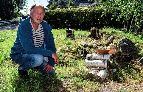 UKJENT BOLIGTOMT: Det står igjen ei ledig boligtomt etter utbyggingen på Narumsfeltet omkring 1980. Nå vil Karl Arne Witzøe i Østre Toten kommune legge ut den ukjente tomta for salg.