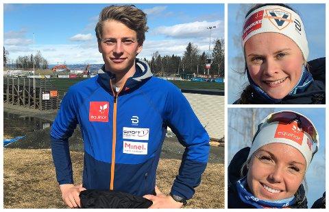 SESONGSTART: Ansgar Evensen, Mathilde Myhrvold og Marte Mæhlum Johansen skal endelig konkurrere igjen.