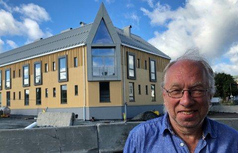 SVÆRT FORNØYD: Byggherre Bjørn Michaelsen er svært fornøyd med resultatet av byggeprosessen.