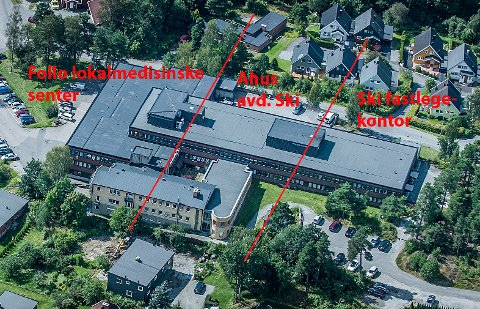 DELT I TRE: Ski sykehus består i dag av tre enheter. Follo Lokalmedisinske senter, Ahus avd. Ski og Ski fastlegekontor.