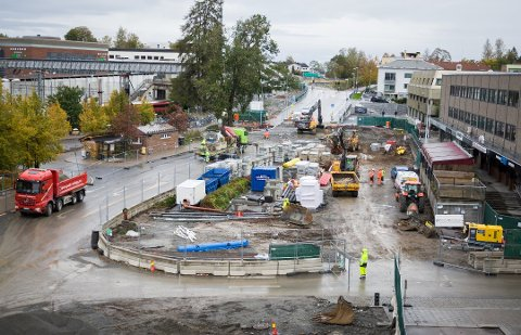 ENDRINGER: Etableringen av ny bussterminal er et av prosjektene som vil forandre sentrum av Ski.
