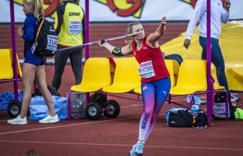 GULLJENTE: Spydkaster Kaja Mørch Pettersen tok sitt første NM-gull som senior i helgen.